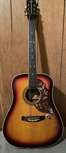 Global Hummingbird 6-String Acoustic Electric Guitar