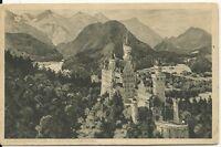 Ansichtskarte Neuschwanstein-Burg Neuschwanstein u. Schloß Hohenschwangau- s/w