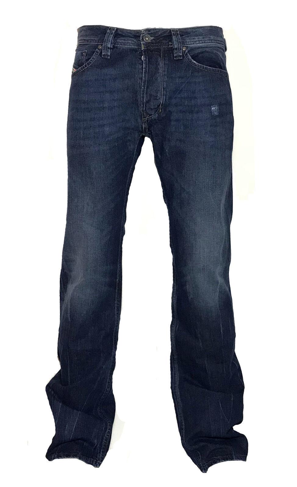 Diesel Straight-Cut Jeans LARKEE 0RM80 dunkelblue  used look  30 32  NEU