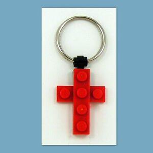 5-40-Lot-Key-Ring-w-Custom-LEGO-Mini-Cross-Pendant-Birthday-Party-Favor
