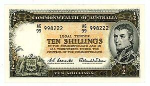 Australia-P-33a-10-Shillings-ND-1961-65-AU-UNC