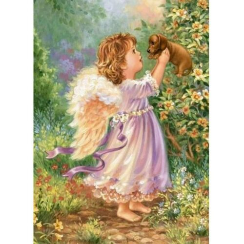 Full Drill 5D Diamond Painting Baby Angel Cross Stitch Kit Embroidery Home Decor
