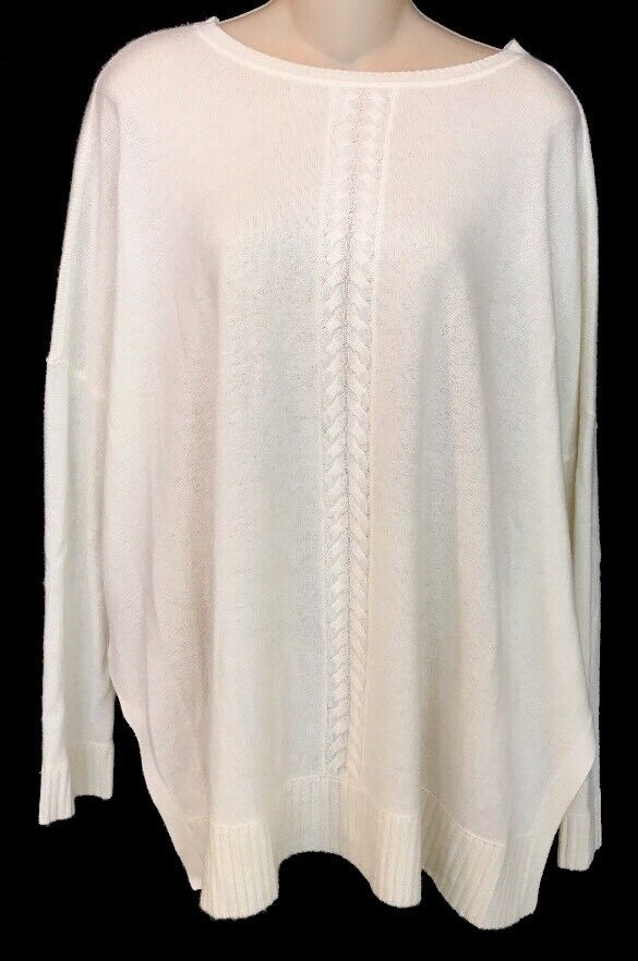 Magaschoni Sweater ivory cashmere oversized size small