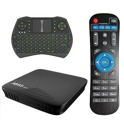 M8S PRO 17.0 Android 7.1 Nougat 4K Smart TV BOX S912 Octa Core WIFI BT +Keyboard