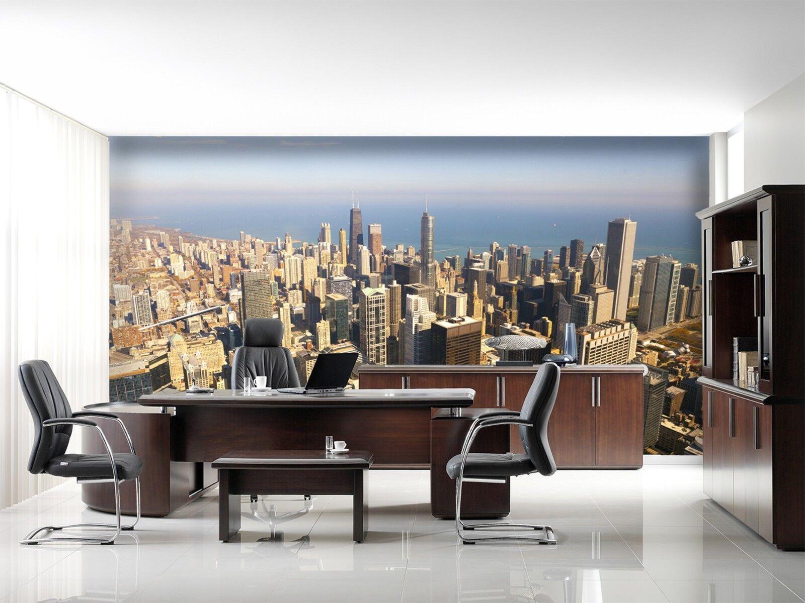 3D Himmel Stadt Meer 933 Tapete Wandgemälde Tapeten Bild Familie DE Lemon