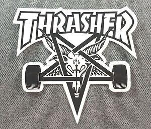 Thrasher-SKATE-GOAT-Skateboard-Sticker-4in-black-on-white-si