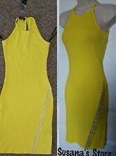 NWT BEBE EVA MIDI STRIPED DRESS SIZE S Studded, keep a sporty and sexy look! $80