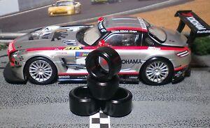 1/32 URETHANE SLOT CAR TIRES 2pr PGT-20126LM fit CARRERA Mercedes Benz SLS
