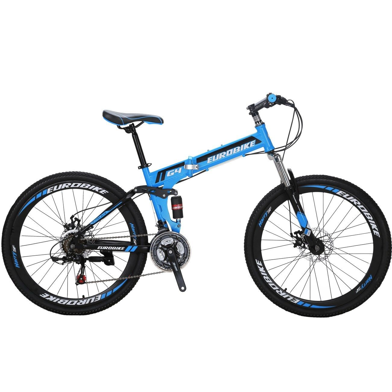 26  Folding Mountain Bike Full Suspension bikes 21 Speed School Bicycle MTB