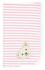 Jerseydecke Babydecke Decke Kuscheldecke Steiff Bär rosa Ringel  90 x 60 cm