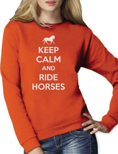 Horse Riding Women Sweatshirt Gift Keep Calm Ride Horses
