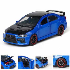 1:32 Mitsubishi Lancer EVO X Model Car Diecast Toy Vehicle Blue Kids Gift New