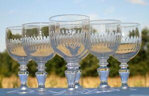 Meisenthal-Service-de-6-verres-a-vin-cuit-en-verre-taille-modele-Renaissance