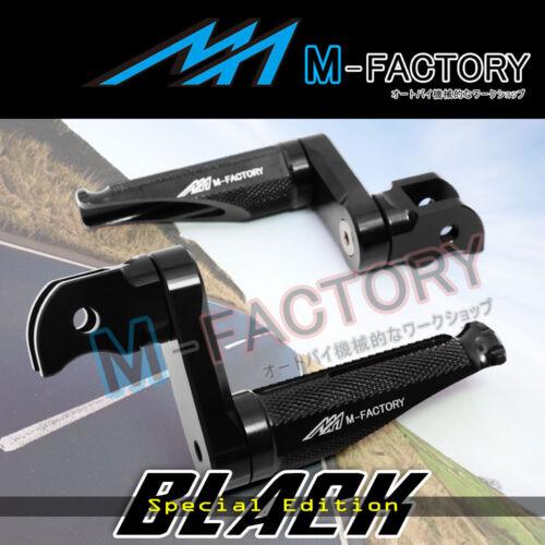 Shinobi Black Adjustable Rear Footpegs 40mm for Yamaha FJR 1300 01 02 03 04 05