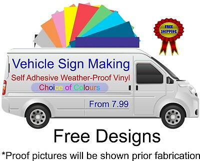 Vehicle Sign Writing Self Adhesive Vinyl Graphics Van Sign-Making Water-Proof