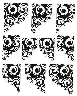 One Stroke Sticker,French,Eckig ,Tattoo, Aufkleber  Nr.1165