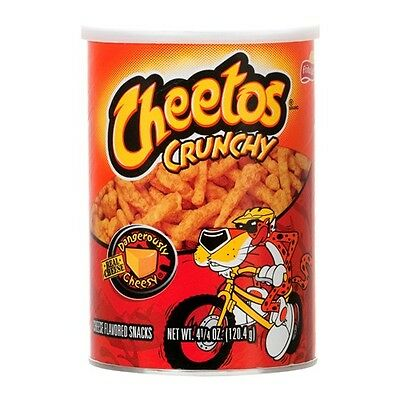 Cheetos Crunchy Cheese 120.4g Canister - American Crisp Snack
