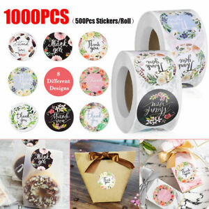 1000 Pcs Thank You Stickers Roll Thank You For Supporting Small Business Labels 761344691179 Ebay