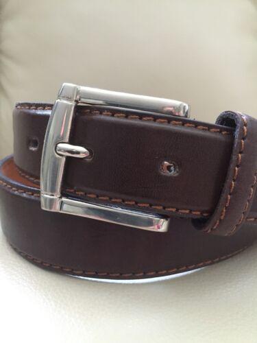 Italy Style Brand Men/'s Genuine Leather Dark Brown Belt Size   M// L// XL NEW