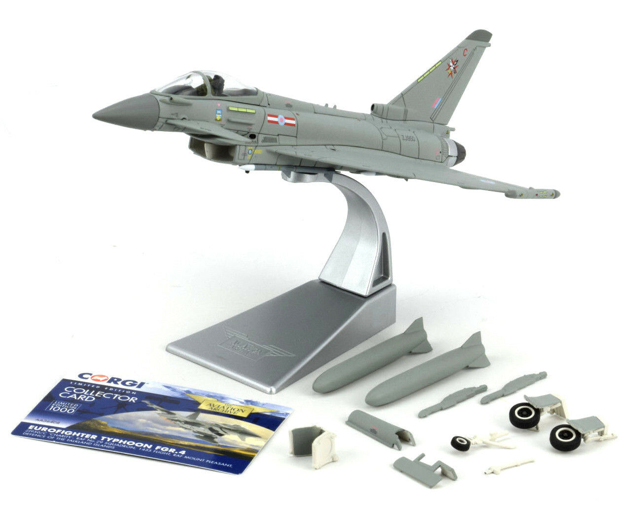 CORGI Eurofighter Typhoon FGR.4 - Falkland Islands 1 72 Die-cast Avion AA36408
