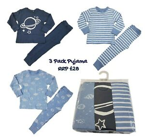 Ex-N-XT-Boys-Pyjamas-3-Pack-PJs-PJ-Set-Long-Sleeve-Snuggle-Fit-Kids-RRP-26-BNWT