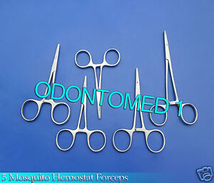 5-Mosquito-Hemostat-Forceps-3-5-034-4-5-034-5-034-5-5-034-6-25-034-Straight-Surgical-Instrument