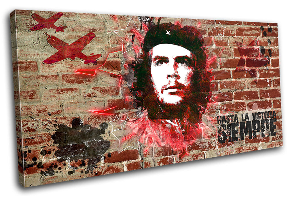 Che Guevara Iconic Celebrities SINGLE Leinwand Wand Kunst Bild drucken