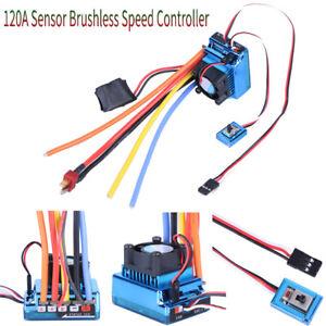 Sin-escobillas-Control-de-Velocidad-sin-escobillas-120A-Esc-Sensor-para-1-8-1-10-RC-Coche-Camion
