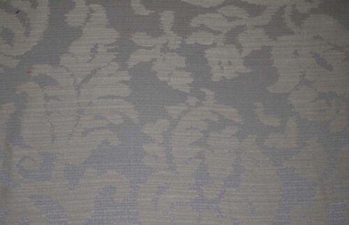 Blue Grey Floral Damask Symphony Pewter Fabric
