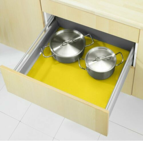 WENKO Anti-Dérapant Tapis Jaune retailler en plastique de tiroir de dépôt NOUVEAU *