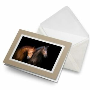 Greetings-Card-Biege-Brown-Horse-Animal-Farm-Stallion-24592