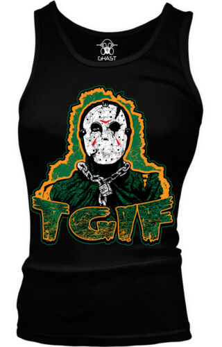 TGIF Jason Friday The 13th Movie Death Halloween Scary Ladies Beater Tank Top