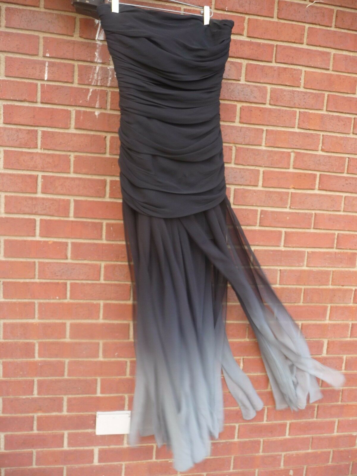 BCBG MAXAZRIA schwarz grau Gown Long Dress US 4