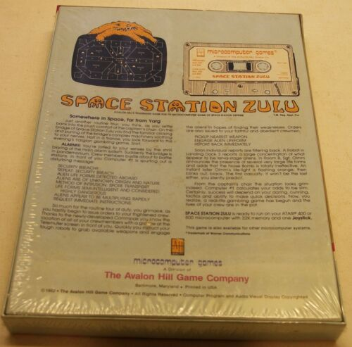NEW RARE Space Station Zulu by Avalon Hill for Atari 400//800