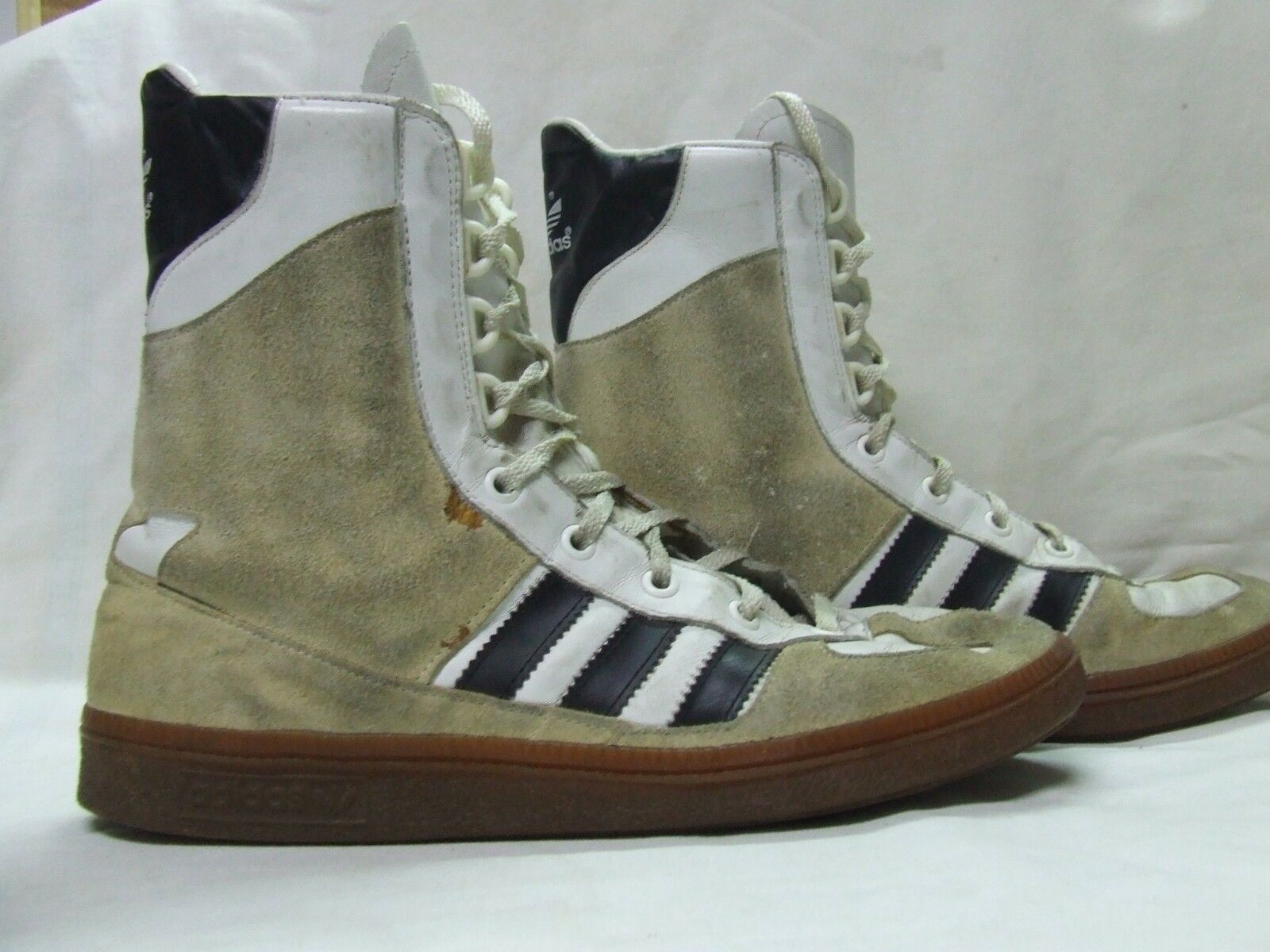 SHOES MAN WOMAN VINTAGE ADIDAS ADIMED STABIL size 8