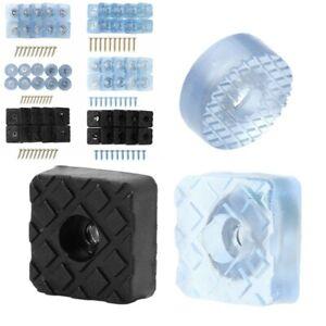10 Rubber Non Slip Non Skid Feet Leg Pads Cap w//Screws for Table Desk Chair Sofa