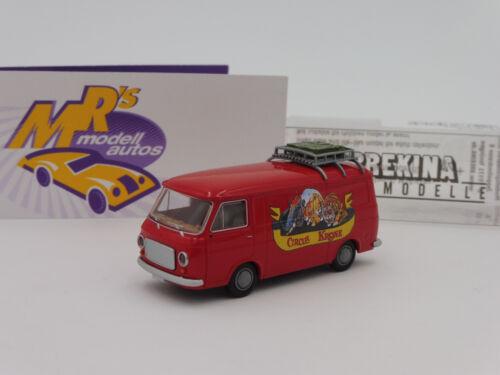 """Brekina 34462 # Fiat 238 recuadro auto en rojo /""""Circus corona/"""" 1:87 novedad!!!"""