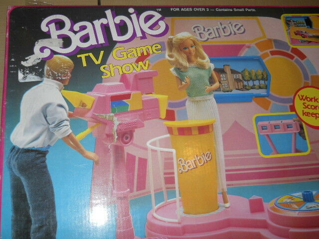 Barbie TV GAME SHOW Playset w Working SCORE KEEPER, Podium & MORE  (1987 Arco