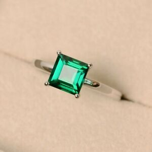925-Sterling-Silver-Green-emerald-May-birthstone-anniversary-ring-for-Unisex