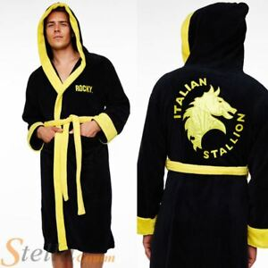 Adult-Rocky-Balboa-Italian-Stallion-Fleece-Bathrobe-Boxing-Dressing-Gown