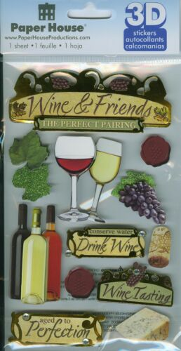 """Paper House Productions /""""Wine/"""" 3-D Stickers"""