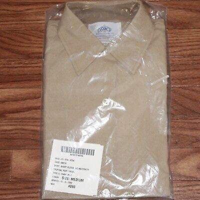 US MILITARY DRESS SHIRT USMC MEDIUM// LONG SLEEVE// MATERNITY// KHAKI