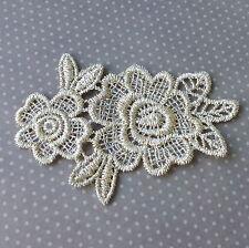 2 pcs Lace patch Flower, floral applique, 85x60mm, scrapbooking embellishment