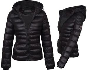 a9ee6abf57d Image is loading Womens-Outdoor-Glossy-Quilted-Winter-Coat-Padded-Puffer-