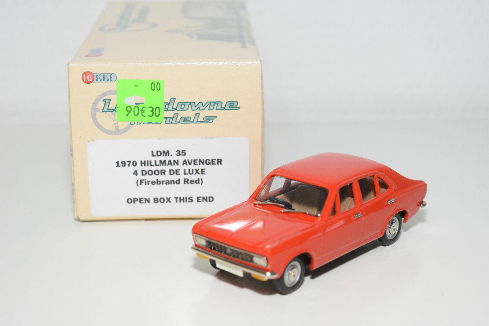 . LANSDOWNE LANSDOWNE LANSDOWNE MODELS LDM 35 HILLMAN AVENGER 4 DOOR DE LUXE 1970 rosso MINT BOXED 9b34a5