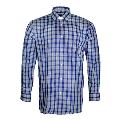 Hammond /& Harper of London Mens Clerical Clip in Shirt in Gingham Check