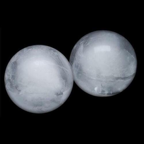 Set of 2 Sphere Ice Mold Creates Large 2.5 Inch Ice Balls Ice Ball Maker