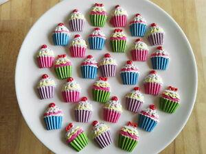 30 X Kleine Muffins Pink Lila Blau Grun Cupcakes Dekorieren Basteln