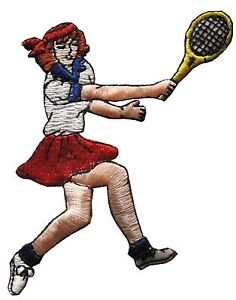3545-Tennis-Girl-Lady-Embroidery-Iron-On-Applique-Patch