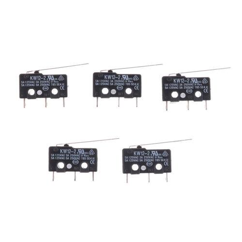 5Pcs Micro Limit Switch Long Lever Arm Subminiature SPDT Snap Action La